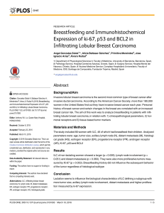 Breastfeeding and Immunohistochemical Expression of ki-67, p53 and BCL2 in