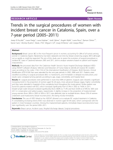 Trends in the surgical procedures of women with –2011)