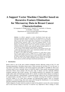 A Support Vector Machine Classifier based on Recursive Feature Elimination