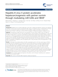 Hepatitis B virus X protein accelerates hepatocarcinogenesis with partner survivin