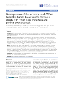 Overexpression of the secretory small GTPase