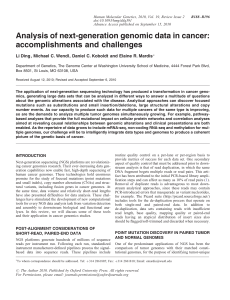Analysis of next-generation genomic data in cancer: accomplishments and challenges
