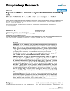 Respiratory Research Expression of the cells 7 nicotinic acetylcholine receptor in human lung
