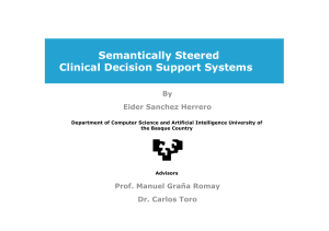 Semantically Steered Clinical Decision Support Systems By Eider Sanchez Herrero