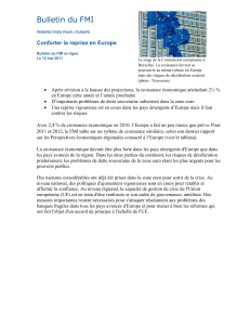 Bulletin du FMI Conforter la reprise en Europe