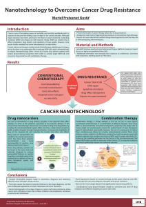 Nanotechnology to Overcome Cancer Drug Resistance Muriel Freixanet Gustà Introduction Aims