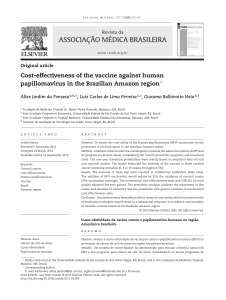 ASSOCIAÇÃO MÉDICA BRASILEIRA Cost-effectiveness of the vaccine against human Revista da