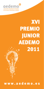 XVI PREMIO JUNIOR AEDEMO
