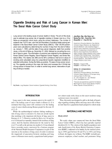 Cigarette Smoking and Risk of Lung Cancer in Korean Men: