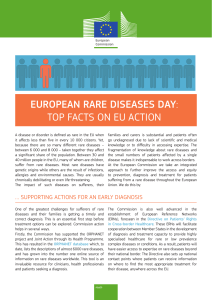 EUROPEAN RARE DISEASES DAY: TOP FACTS ON EU ACTION
