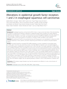 Alterations in epidermal growth factor receptors Open Access