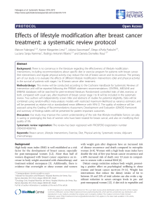 Effects of lifestyle modification after breast cancer Open Access