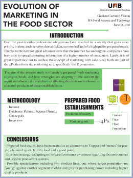 EVOLUTION OF MARKETING IN THE FOOD SECTOR INTRODUCTION