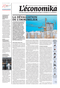 LA DÉVALUATION DE L`IMMOBILIER