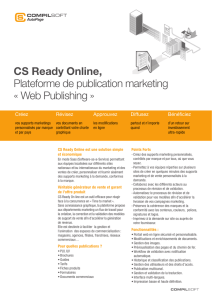 CS Ready Online, Plateforme de publication marketing « Web