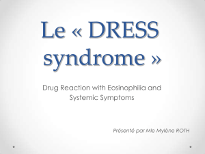 Le « DRESS syndrom »