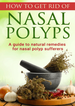 Nasal Polyps Treatment Miracle PDF EBook Manuel Richards
