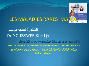 CONFERENCE ALLIANCE MALADIES RARES