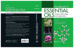 Can Baser Hüsnü K, Gerhard B (2010) Handbook of essential oils, sciences, technology and applications