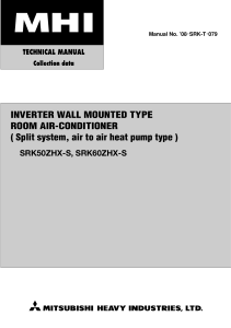 SRC K 50 60ZHX S technical manual 08-SRK-T-079 ENG