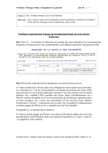 dosage des ions nitrate