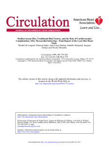 1999 Circulation de Lorgeril Lyon diet heart study[12605]
