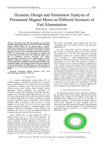 Dynamic Design and Simulation Analysis of Permanent Magnet Motor in Different Scenario of fed Alimentation