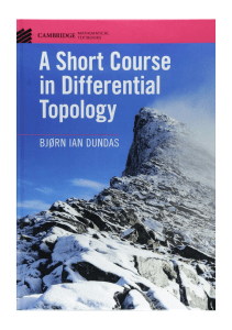 Good A Short Course in Differential Topology