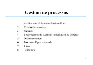 TD 01 : Ordonnancement des processus