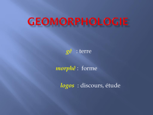 1 GEOMORPHOLOGIE structurale