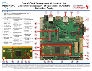 Open-Q 805 Dev kit Quick Start Guide