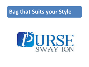 Bag that Suits your Style
