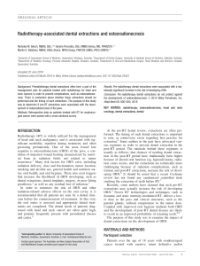 Radiotherapy-associated dental extractions and osteoradionecrosis