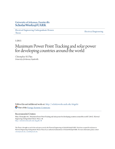 Maximum Power Point Tracking and solar power