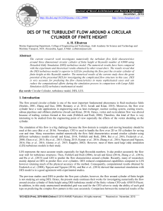 DES OF THE TURBULENT FLOW AROUND A CIRCULAR CYLINDER OF FINITE HEIGHT