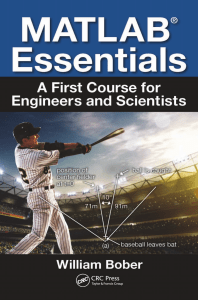 MATLAB Essentials   A First Course for Engineers and Scientists-CRC press (2018)