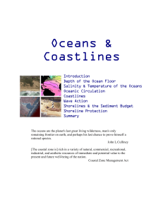 15. Oceans and coastal processes