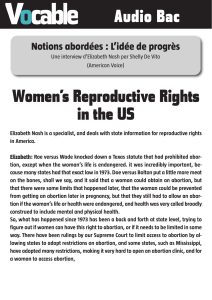 Women's reproductive rights in the US