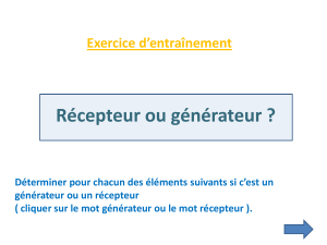 5e Exercices generateur recepteur