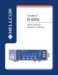 Nellcor N600 - User manual