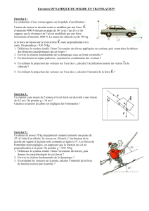exercice dynamique translation