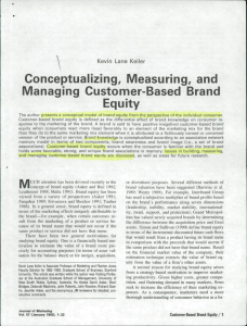 Conceptualizing Measuring and Managing Customer Based Brand Equity Keller 1993