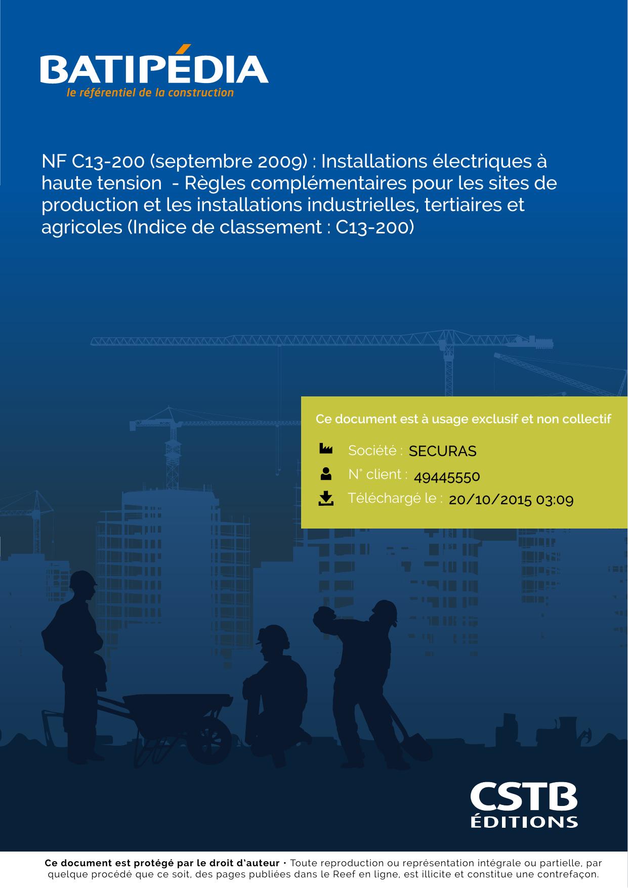 NFC 13-200 TÉLÉCHARGER