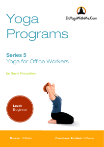 Yoga Program for Office Workers DYWM
