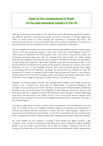 Brexit and Pharmaceutical industry