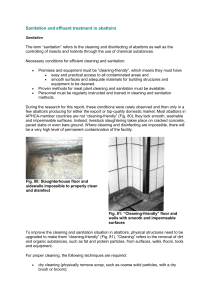 Sanitation and effluent treatment in abattoirs