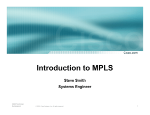 Intro to mpls