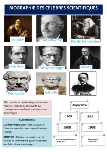 Biographies des celebres scientifiques