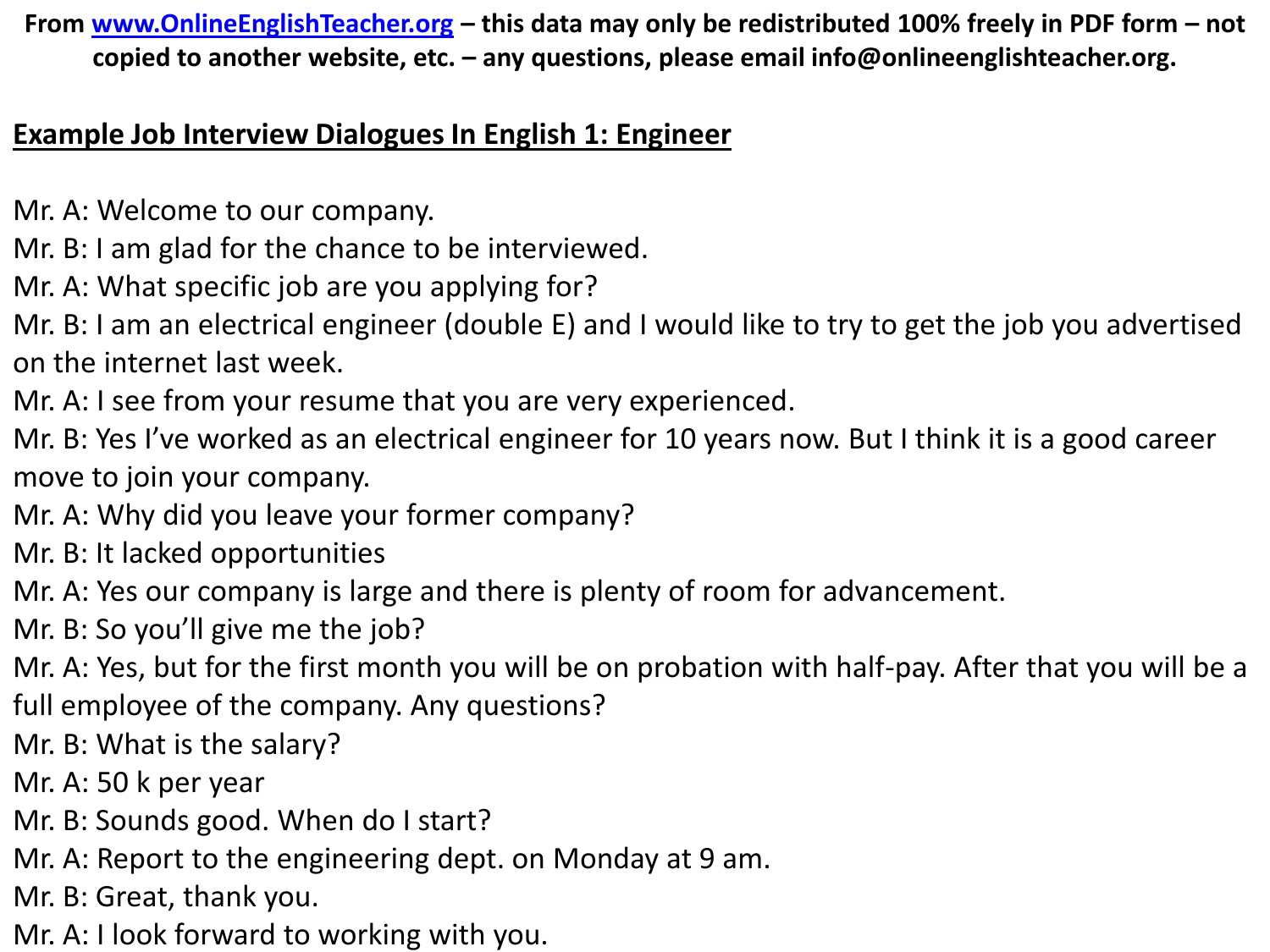 Free-Job-Interview-Dialogues