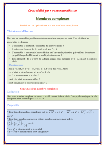 Cours Math - Nombres complexes - Bac Math Mr Masmoudi Radhouane www.masmaths.com